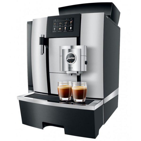 Kaffeevollautomat schwarz aluminium